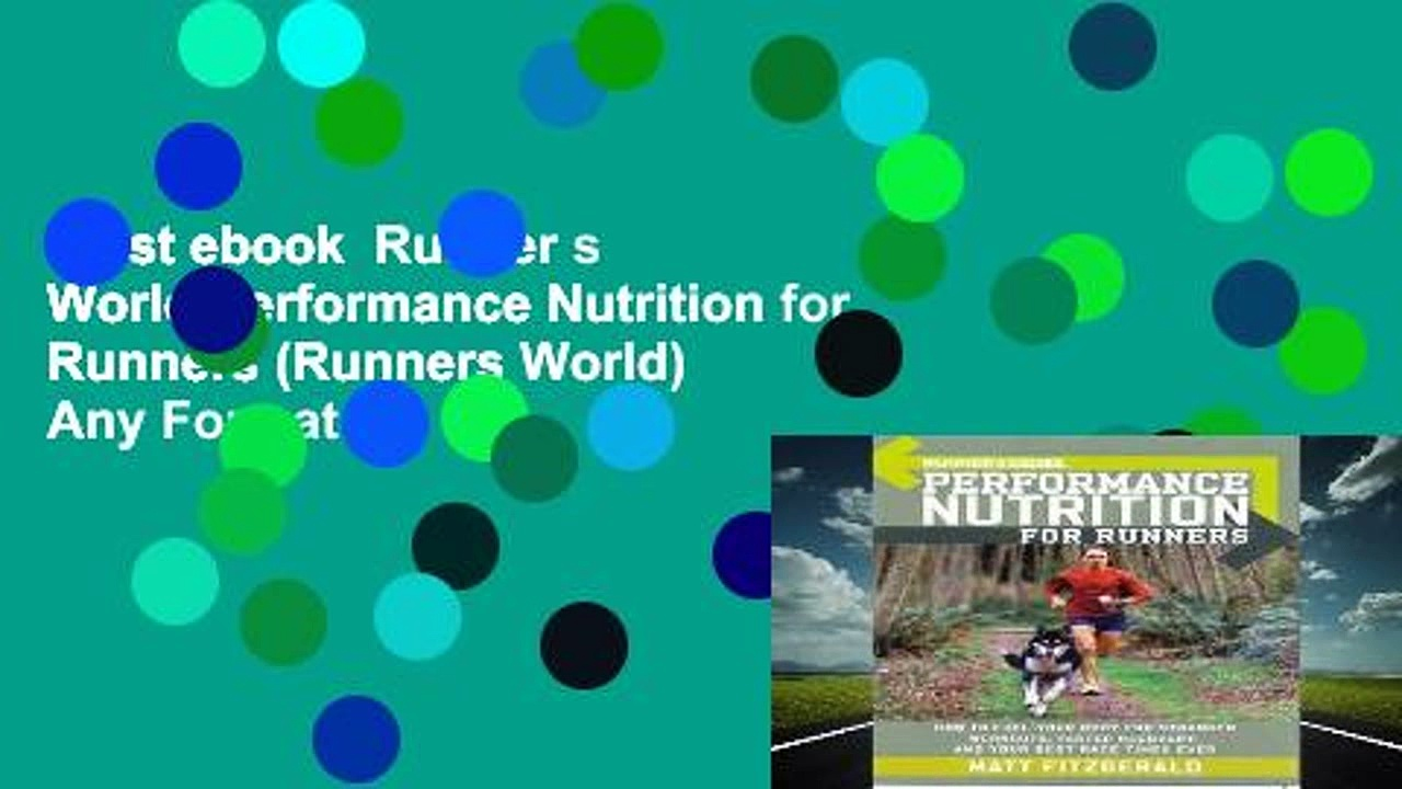 Best ebook  Runner s World Performance Nutrition for Runners (Runners World)  Any Format