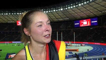 Gina Lückenkemper (GER) after winning Silver in the 100m