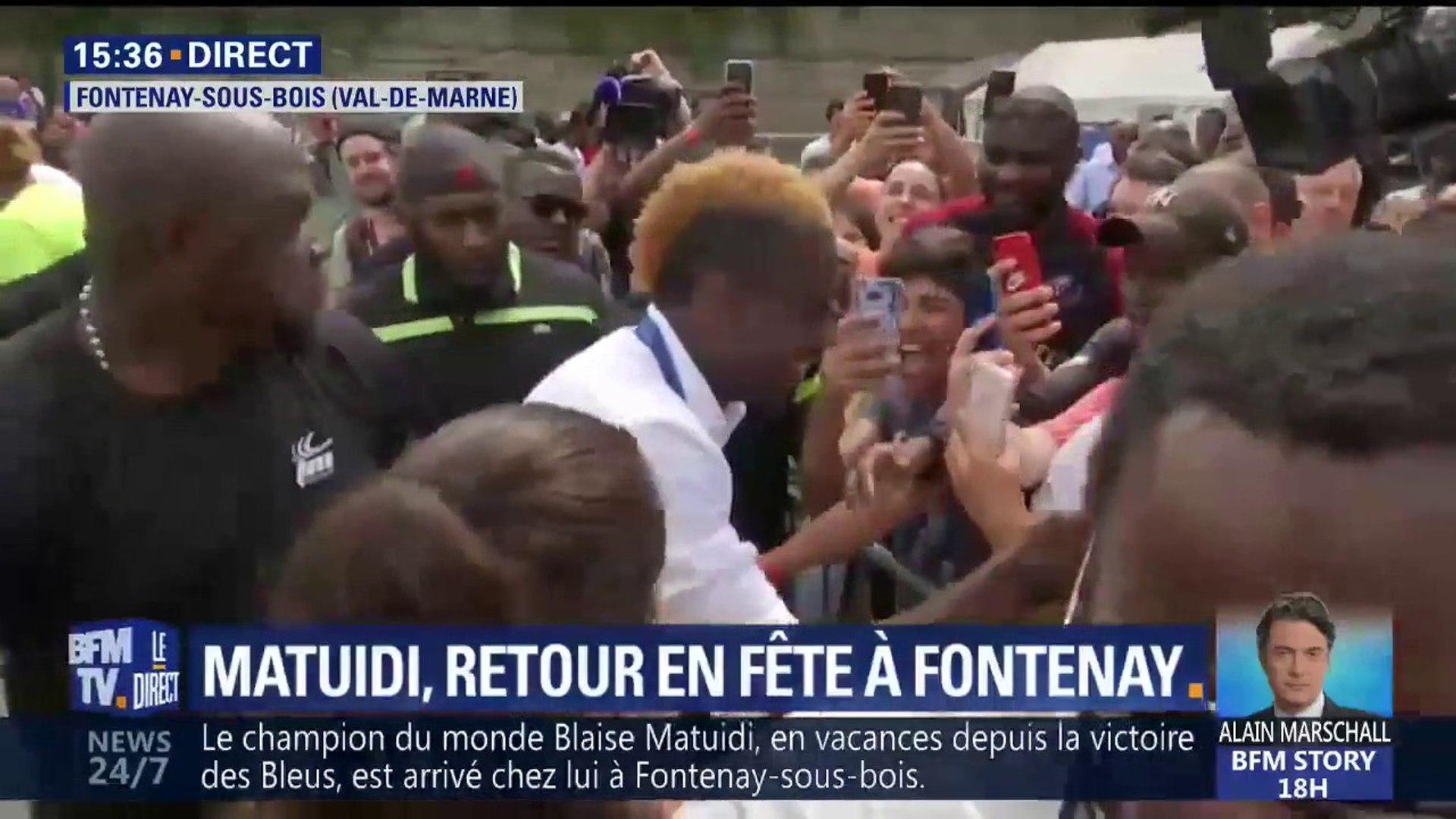 Bibliothèque De Fontenay Sous Bois blaise matuidi reçu comme un héros à fontenay-sous-bois