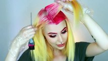 Extreme Hair Makeover ☆ LimeCrime Unicorn Hair Dye Juicy  Step By Step How To Dye Hair