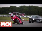 Mercedes SLS AMG & Ducati 1198 SP from a bikers point of view