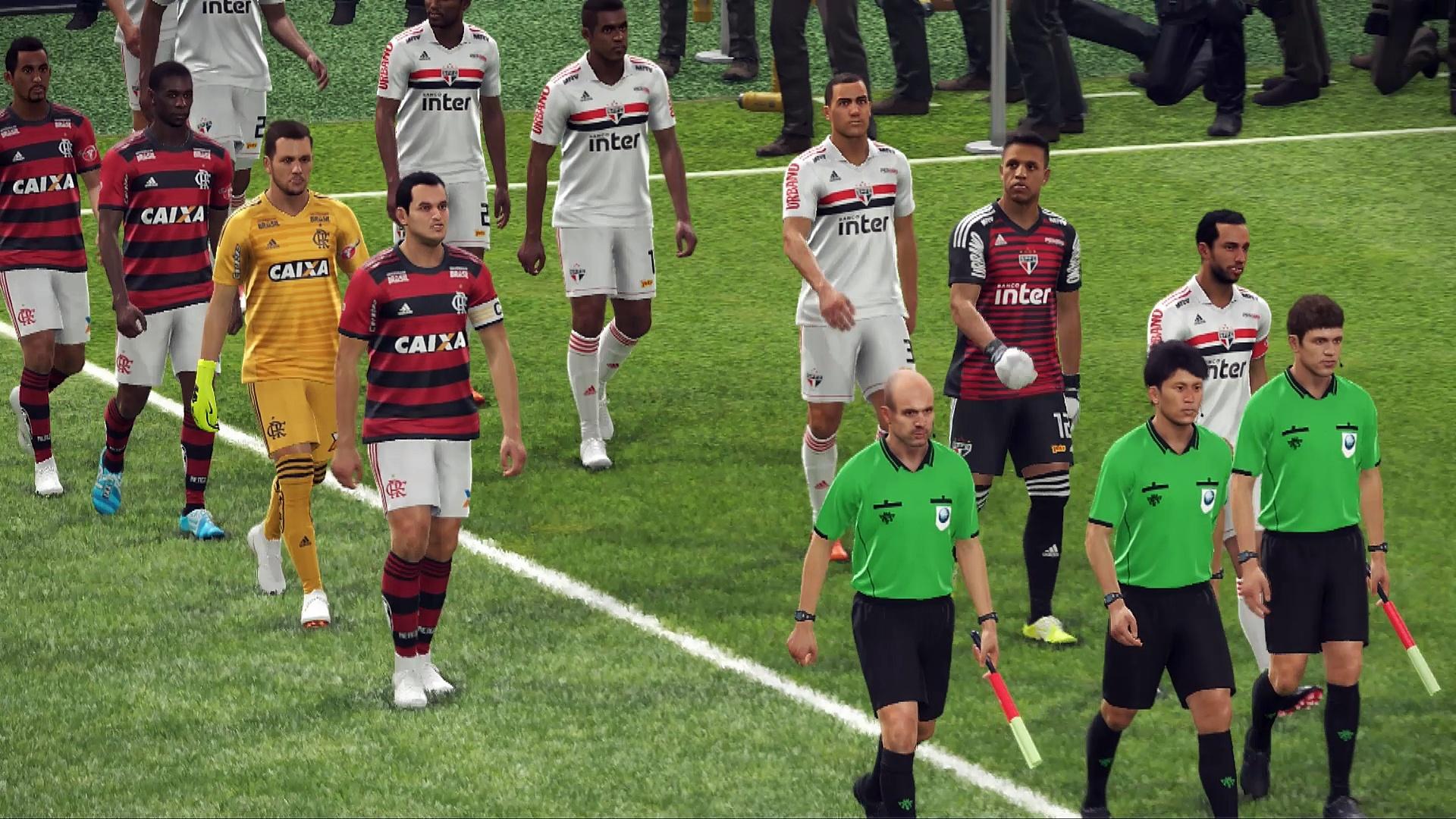 PES 2019 PC SaoPaulo-Flamengo demo