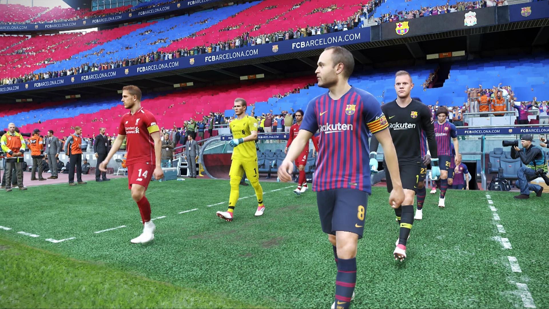 PES 2019 Barcelona-Liverpool demo
