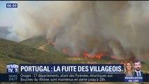 Dans le sud du Portugal, habitants et touristes sont évacués pour échapper aux feux