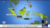 Un nouveau séisme frappe l'île de Lombok en Indonésie, le troisième en deux semaines