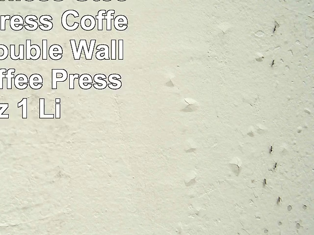 Large Stainless Steel French Press Coffee Maker  Double Wall Tea Or Coffee Press  36 Oz