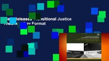 New Releases Transitional Justice Theories  Any Format
