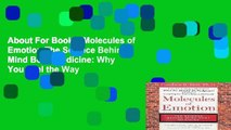 About For Books  Molecules of Emotion The Science Behind Mind Body Medicine: Why You Feel the Way