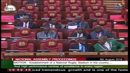 Kenya Parliament approves construction of rugby stadium