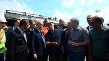 Ulaştırma ve Altyapı Bakanı Mehmet Cahit Turan, Afet Bölgesinde İncelemelerde Bulundu
