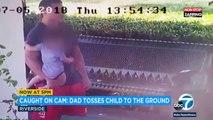 Etats-Unis : Un homme frappe sa femme avec son bébé, les images choc