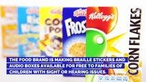 Kellogg's Releases New Items for Visually Impaired Children