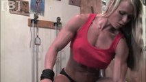 Larissa Reis arm biceps triceps Workout in the Gym Center - Female Bodybuilding Muscle Fitness Motivation