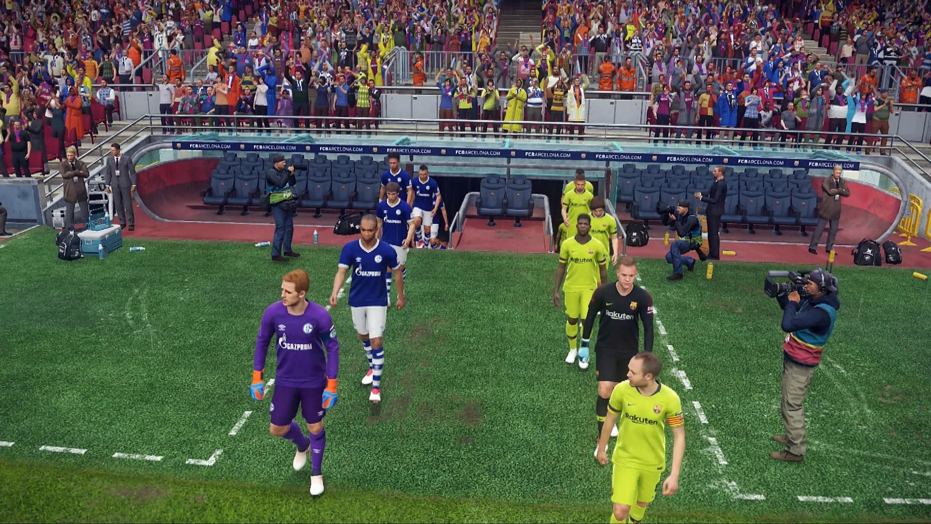 PES 2019 PC Barcelona-Schalke 04 demo