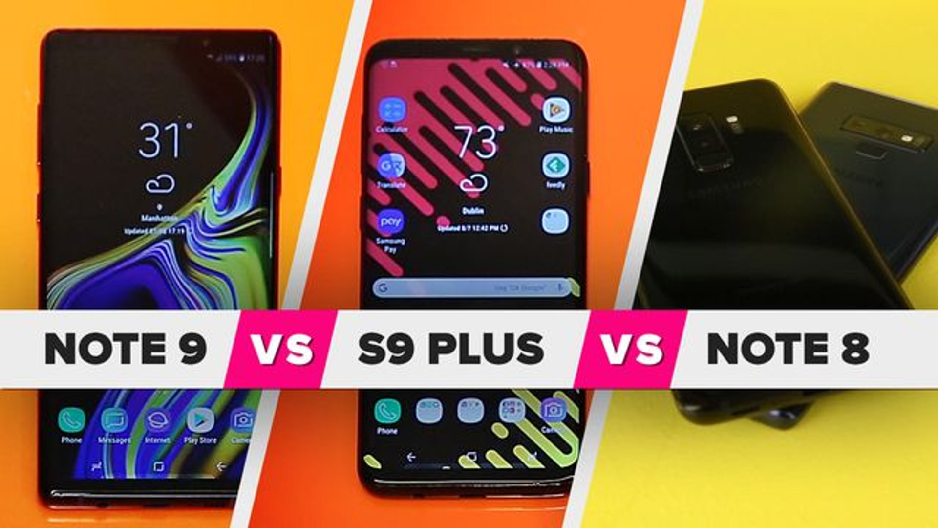 Galaxy Note 9 vs. S9 Plus vs. Note 8: What's new?