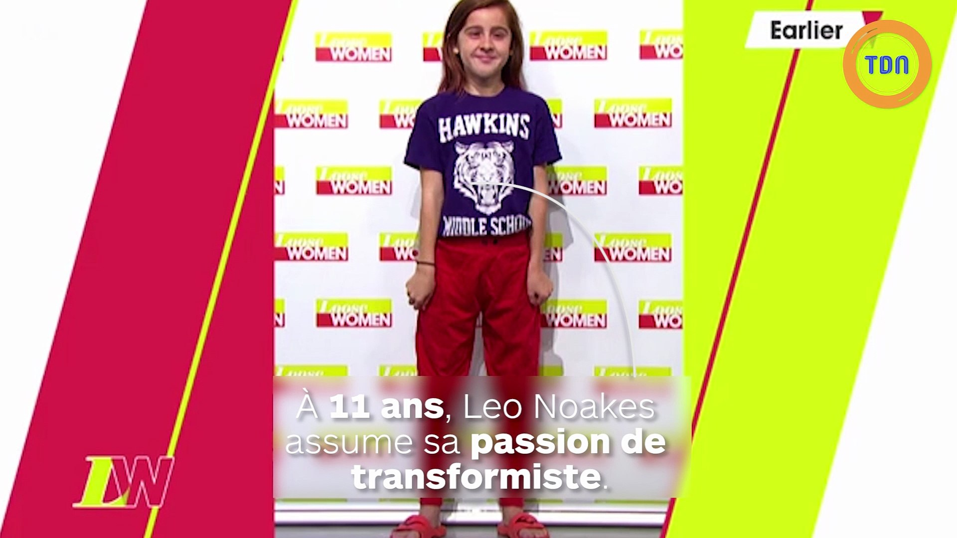 À 11 ans, il a pour passion de se transformer en drag queen et l'assume à la télé