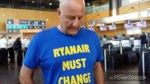 Grève des pilotes de Ryanair. Aéroport de Charleroi.  10/08/2018