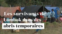 Lombok : les déplacés vivent dans des abris temporaires après le séisme