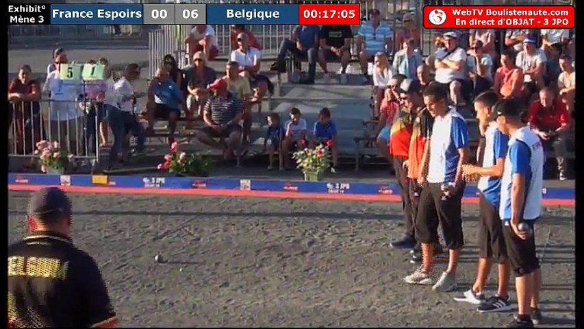 National d'Objat 2018 à pétanque : Exhibition France Espoirs VS Belgique