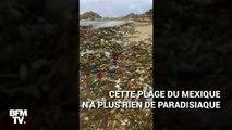 Au Mexique, des vagues de déchets plastiques déferlent sur une plage