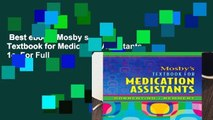 Best ebook  Mosby s Textbook for Medication Assistants, 1e  For Full