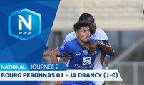 J2 : Bourg-Peronnas 01 - JA Drancy (1-0), le résumé