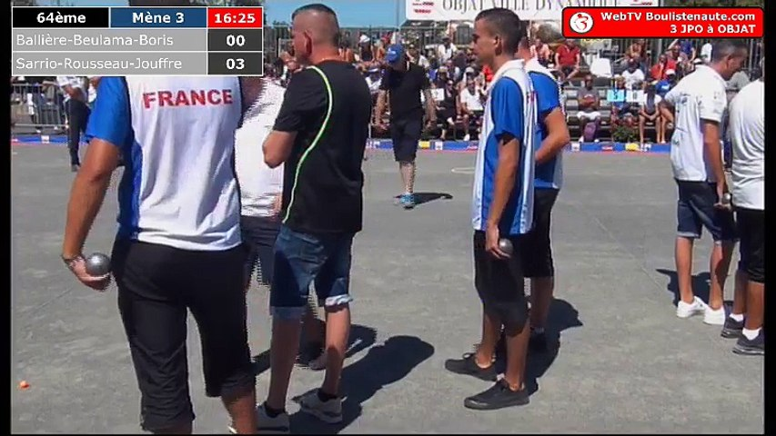 National d'Objat 2018 à pétanque : 64ème France Espoirs VS Sarrio