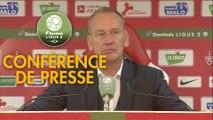 Conférence de presse Stade Brestois 29 - Paris FC (1-1) : Jean-Marc FURLAN (BREST) - Mecha BAZDAREVIC (PFC) - 2018/2019