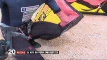 Kitesurf : record de vitesse pour Chris Ballois, privé d'avant-bras gauche