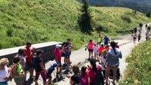 L'arrivée d'Enéa au sommet du Puy-de-Dôme, pour faire connaître la mastocytose