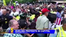 Counter Protestors Far Outnumber White Nationalists at `Unite the Right` Rally in Washington