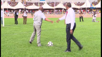 President Uhuru Kenyatta at youth event in Kisii