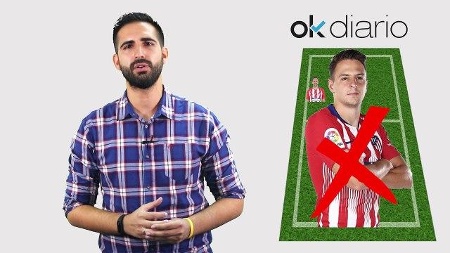 Alineación del Atlético de Madrid por Javier Iglesias