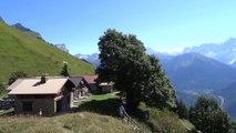 Refuge de Varan, vue sur le massif du Mont-blanc -74-