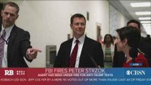 FBI fires agent Peter Strzok, as Trump calls for Russia investigation to be dropped
