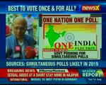 One India One poll: BJP pushing for 11 Assembly polls to be held next year, says sources