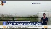 Italie: un pont autoroutier s'écroule à Gênes