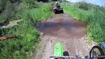 Insane deep water crossing on Dirt Bikes Go Pro HD