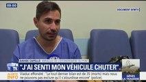 """""""J'ai senti mon véhicule chuter"""", un miraculé de la catastrophe de Gênes témoigne sur BFMTV"""