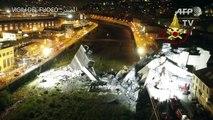 استمرار البحث عن ناجين ليلا بعد كارثة انهيار الجسر في جنوى