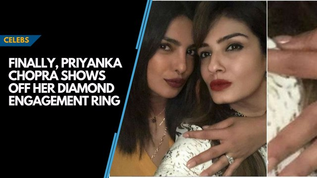 Finally, Priyanka Chopra shows off her diamond engagement ring