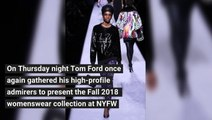Tom Ford Fall 2018 Ready-to-Wear Collection at NYFW