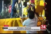 Tumbes: intervinieron a docente por usar sin permiso instrumentos musicales de universidad