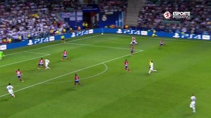 Gol do Real! Bale faz lindo lançamento e Benzema empata de cabeça!