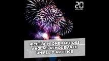 Nice: La Promenade des Anglais renoue avec un feu d'artifice