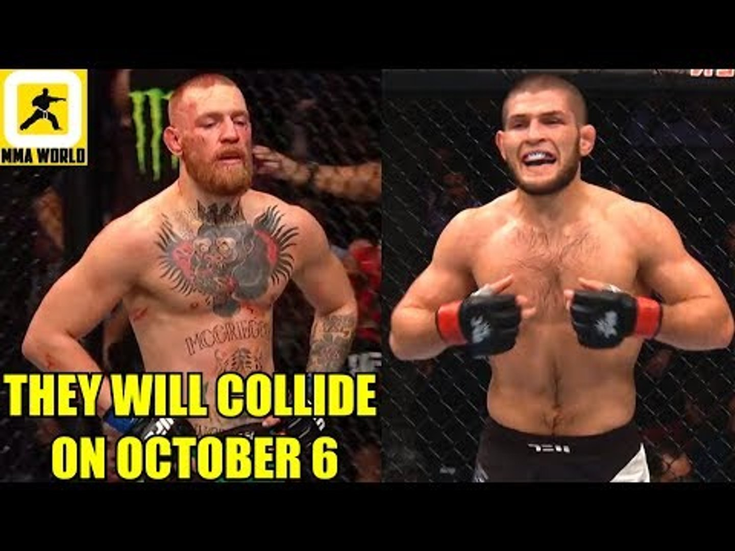 IT'S OFFICIAL! Conor McGregor and Khabib will finally meet inside the Octagon at UFC 229,Hollow