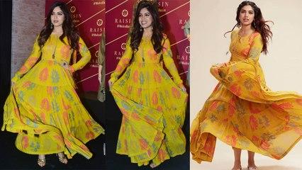 Bhumi Pednekar looks GORGEOUS in Yellow UMBRELLA dress