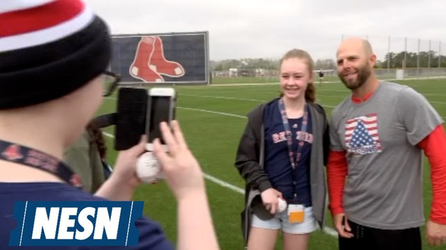 Red Sox Host Jimmy Fund Patients At JetBlue Park During Spring Training