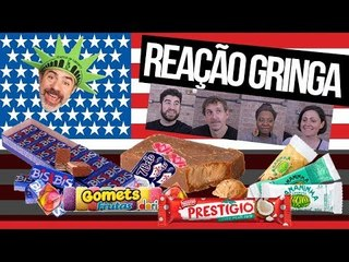 GRINGOS REAGEM A BALAS E CHOCOLATES BRASILEIROS