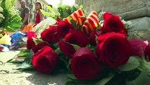 Flores en las Ramblas a un año del atentado en Barcelona